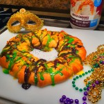 Image of High protein Mardi Gras king cake recipe